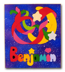 Outer Space Personalized Name Puzzle