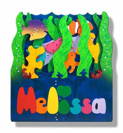 3D Ocean Name Puzzle