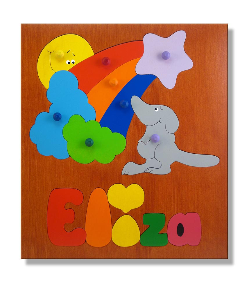 Wooden Name Puzzle Personalize A Puzzle With Your Child