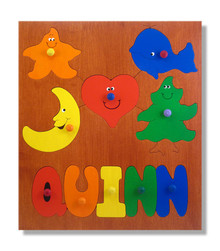Personalized Wooden Name Puzzle | Basic Shapes