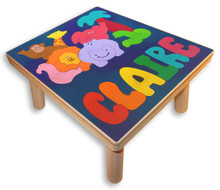 Name Puzzle Stool | Zoo Animals