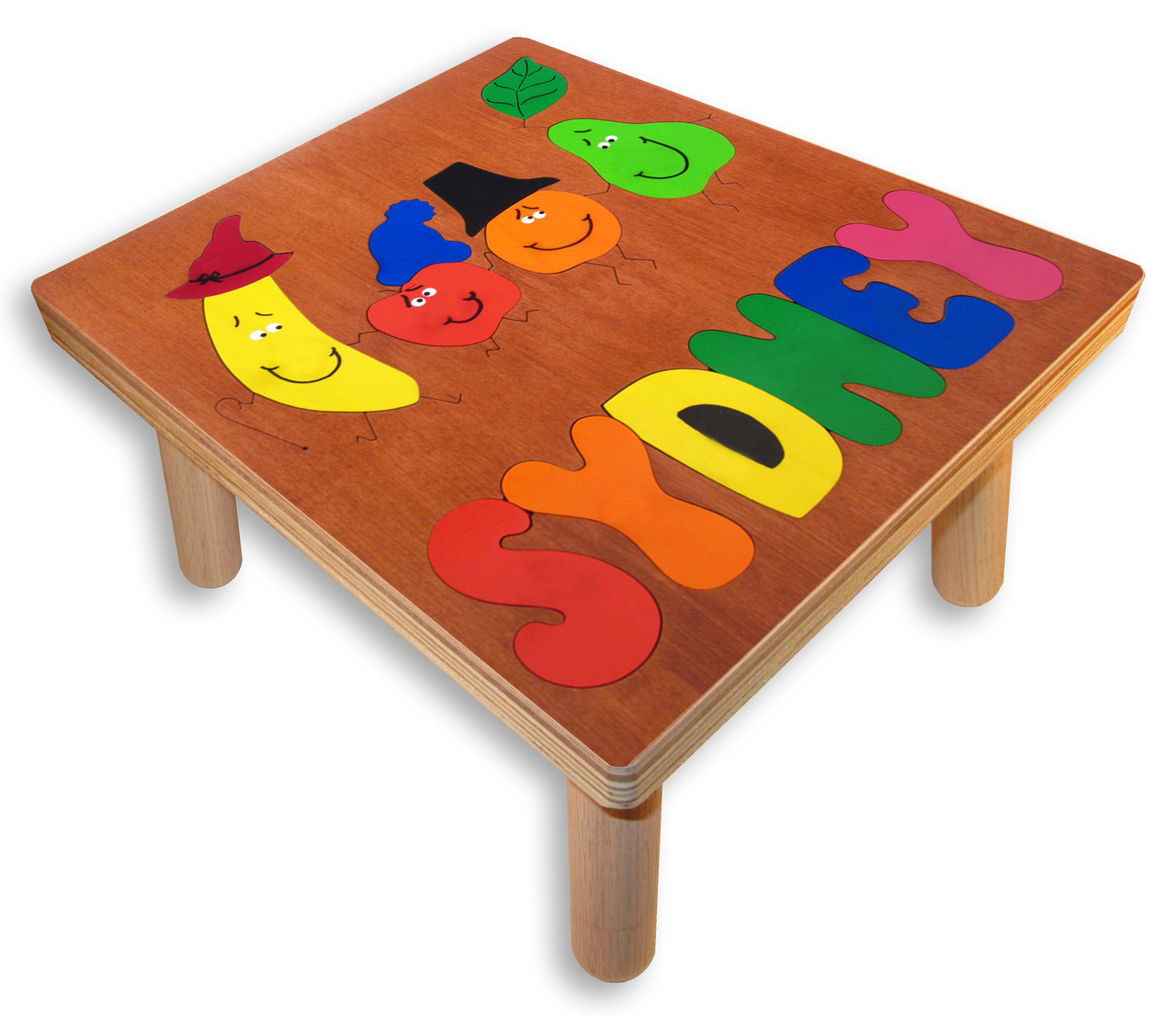 Name Puzzle Stools Dancing Fruit Puzzle Table
