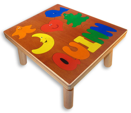 Toddler Name Puzzle Stool | Puzzle Table
