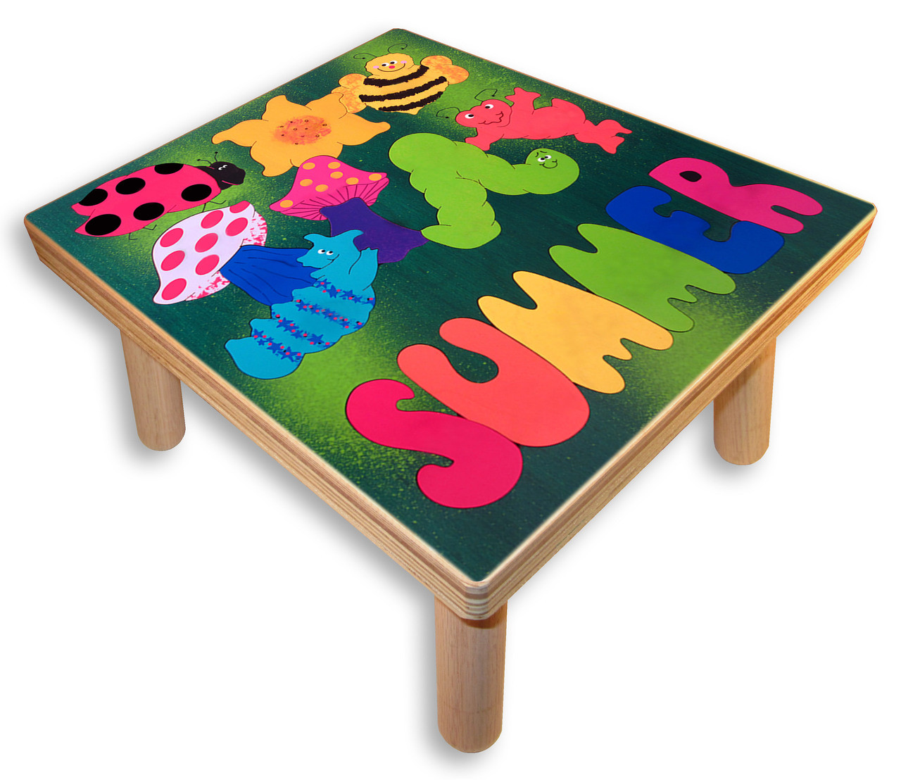 Name Puzzle Stool Bugs And Insects Stool For A Child