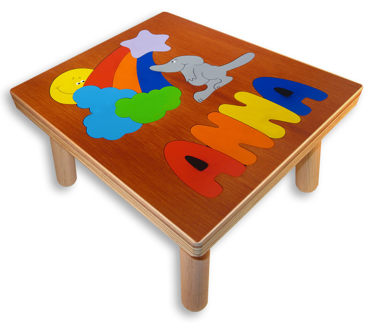 Name Puzzle Step Stool Mouses Rainbow Childs Stool