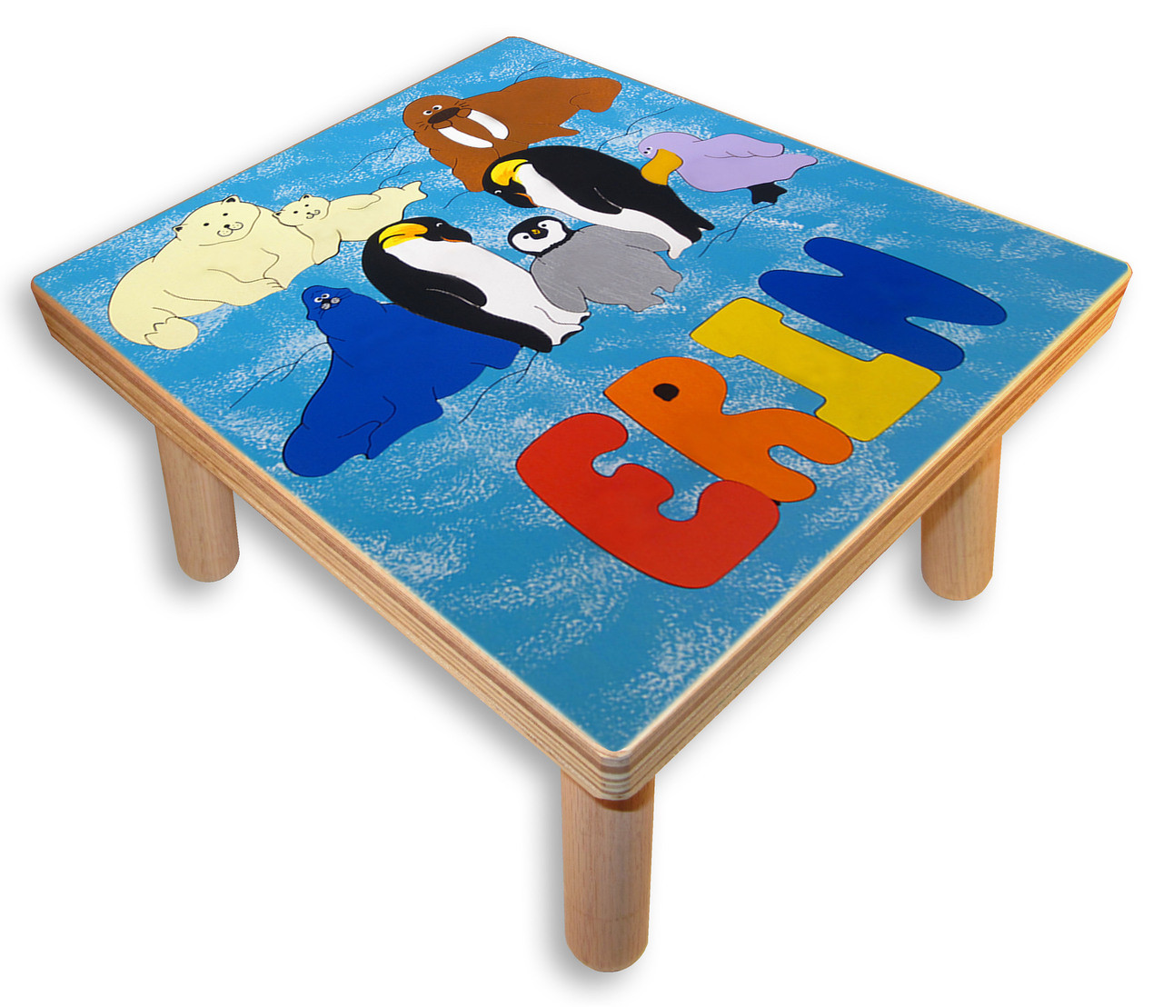 Step Stools With Kids Name Polar Animals Kids Step Stool
