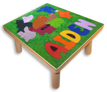 Name Puzzle Stool   Forrest Animals