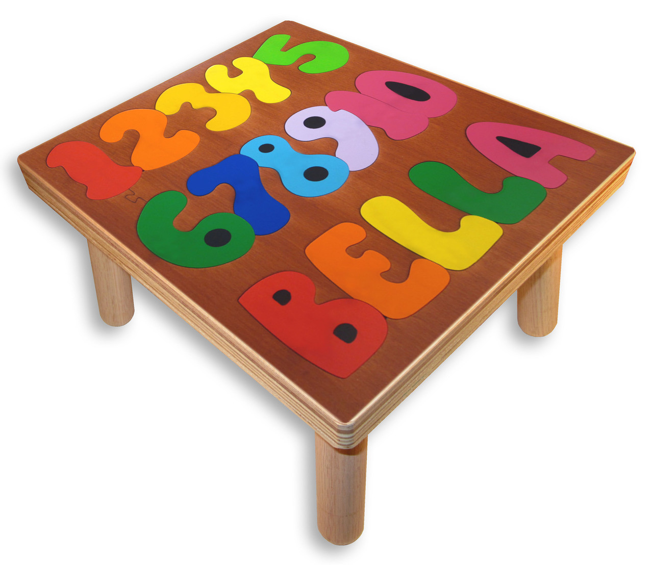 Step Stool Name Puzzles Counting Numbers Play Table For