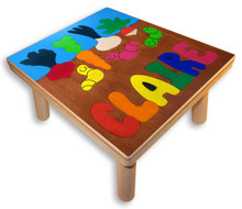 Name Puzzle Stool | Gardening with Worms