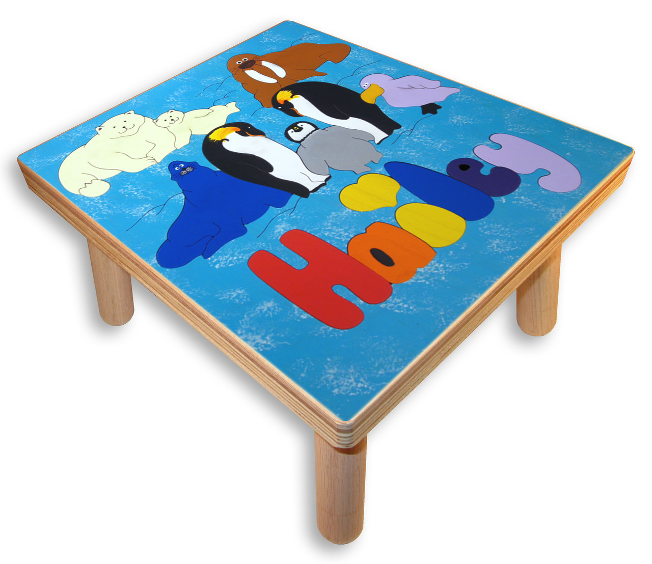 Name Puzzle Stool Polar Animals Step Stool