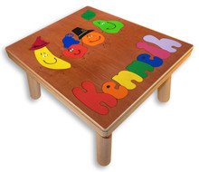 Name Puzzle Step Stool for children