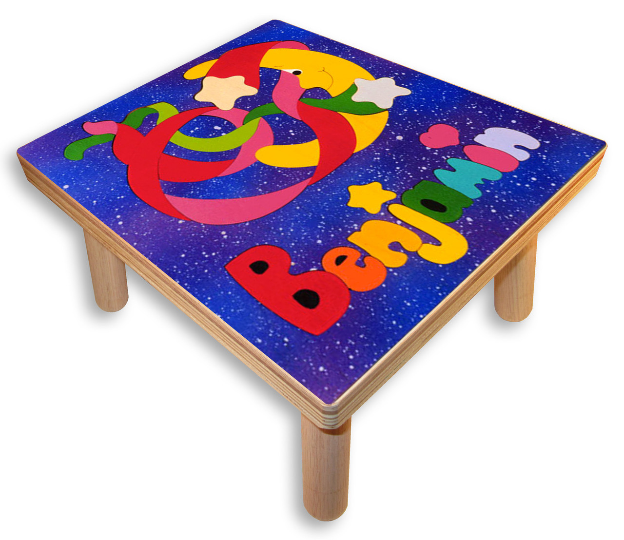 Name Puzzle Stool Moon And Stars Step Stool