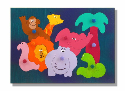 African Zoo Animals Puzzle