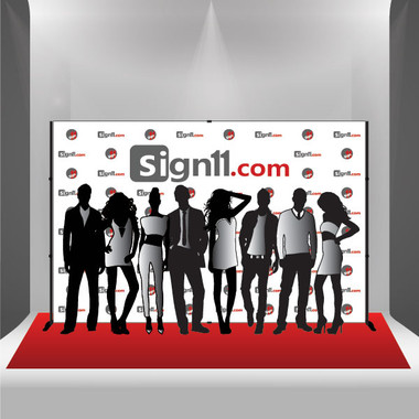 Step and Repeat Banner + Stand + Red Carpet, Red Carpet Backdrop ...