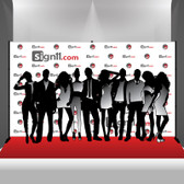 Step and Repeat Banner 14x8 with Stand and Red Carpet