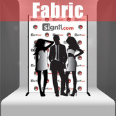 Fabric Step and Repeat Banner with stand 6'x8'