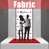 Fabric Step and Repeat Banner with stand and red carpet 4'x8'