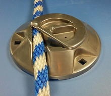 "Stainless steel, Heavy duty design for mooring large boats 1/2"" to 3/4"" lines.  6"" diameter, Model 630"