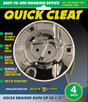 "Chrome finish, for 1/4"" - 1/2"" lines 4-inch diameter.  Model 420.  For freshwater use only. One (1) cleat per package."