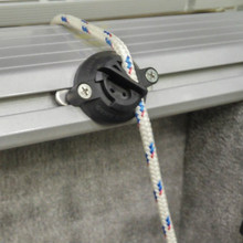 Quick Cleat™, Model 217 mounted on boat track rail