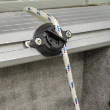 Quick Cleat™, Model 217 mounted on boat track rail Easy Fender Adjustment Four (4) cleats per package.