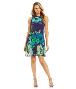 Jessica Howard Đầm Đen Hoa