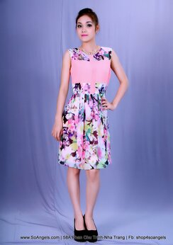 Gianni Bini Đầm Cam  Hoa
