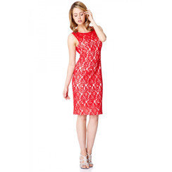 Q Đầm Đỏ Ren Hoa