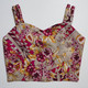The Vratim Side Straps Crop Top - Red Floral front
