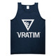 The Vratim Logo Tank - Navy