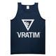 The Vratim Logo Tank - Navy