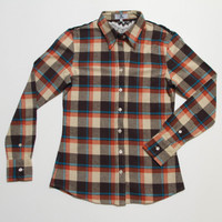The Brooke Flannel - Orange front