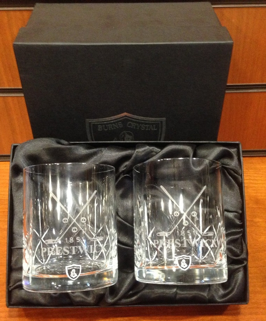 Burns Crystal Whisky Glasses (Pair)