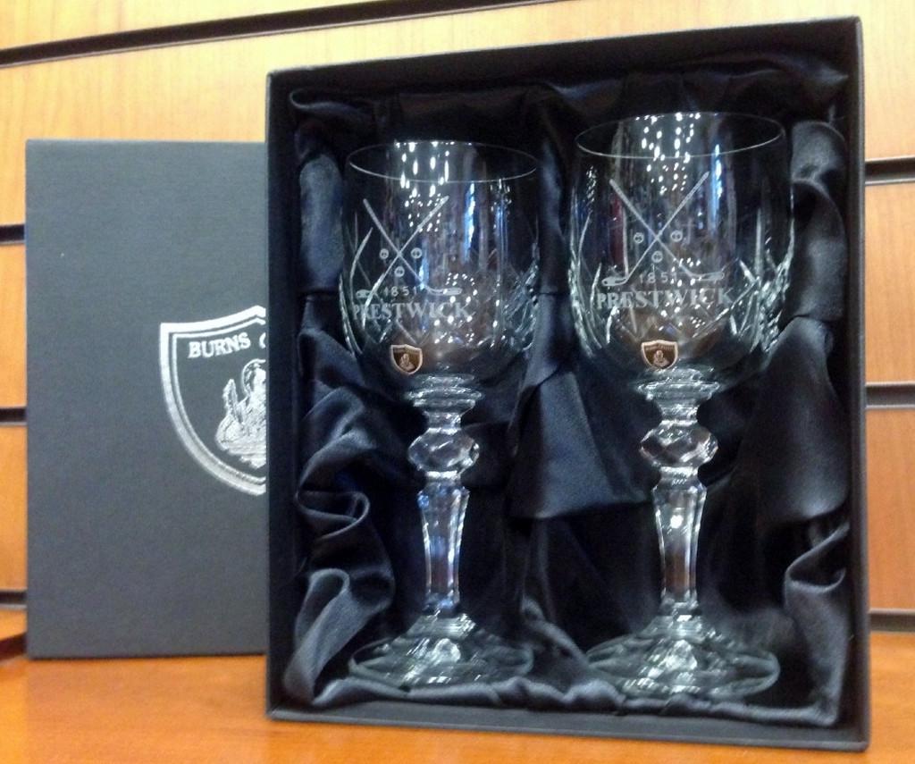 Burns Crystal Wine Glasses (Pair)