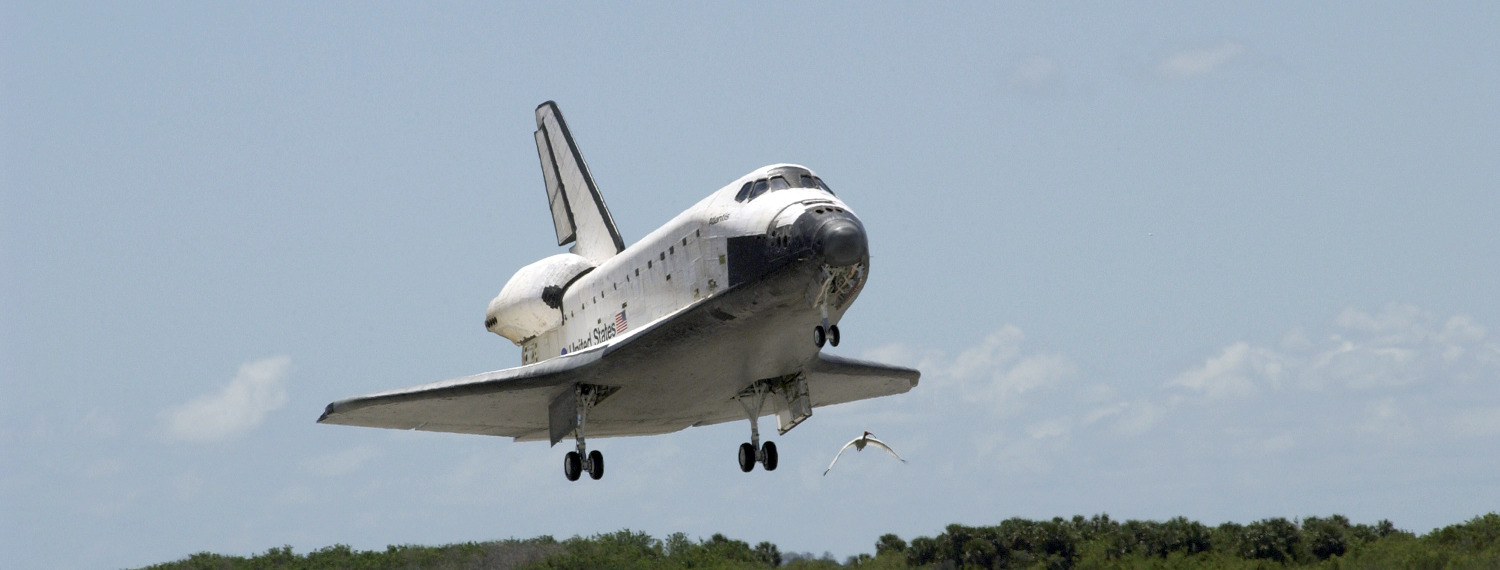 Photo of the Space Shuttle
