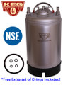 3 Gallon Kegs, NEW, Ball Lock
