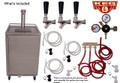 Stainless Steel Outdoor/Under Cabinet  Kegerator 3 faucet Tower