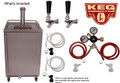 Stainless Steel Outdoor/Under Cabinet Kegerator 2 faucet Tower