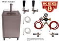 Stainless Steel Outdoor/Under Cabinet Kegerator Two Faucet Tower Commercial