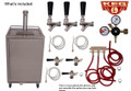 Stainless Steel Outdoor/Under Cabinet Kegerator Three Faucet Tower Commercial
