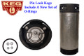 "Pin Lock ""Coke Style"" Cornelius Keg - or Firestone, 5 Gallon, for Homebrew/Soda"