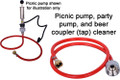 Picnic Pump, Party Pump, and beer coupler cleaner