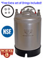 2.5 Gallon Kegs, NEW, Ball Lock