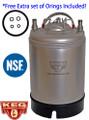 2.5 Gallon Kegs, NEW, Ball Lock