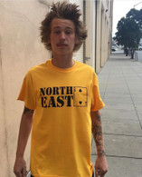 Northeast Stacked T-Shirt - Gold