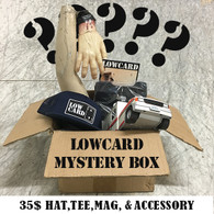 Lowcard Mystery Box:  Hat, Tee Shirt, Mag, Accessory and whatever else we feel like giving.