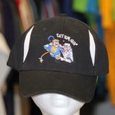 Hockey Fighter Let em' Go inset black white hat