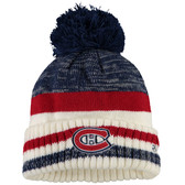 Montreal Canadiens Reebok Blue Center Ice Cuffed Pom Knit Hat