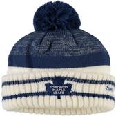 Toronto Maple Leafs Reebok Blue Center Ice Cuffed Pom Knit Hat
