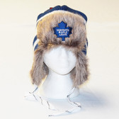 Toronto Maple Leafs Reebok Blue Center Ice FUR TROOPER Knit Hat